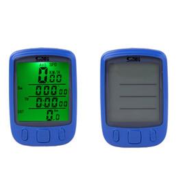 Wholesale Bike Speedometer Backlight - New Waterproof 28 Multifunction Wireless Bike Bicycle Cycling Computer Odometer Speedometer LCD Backlight Backlit Computer H11025