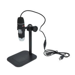 Lupas electronicas online-Venta al por mayor-50X a 500X USB LED Digital Microscopio Lupa Cámara Negro