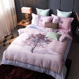 Wholesale Modern Textile Design - 100% cotton fabric flat sheet bedding set four pieces per set home textile 0.59-0.71inch bed and 0.71-0.78inch bed love sky flower designs