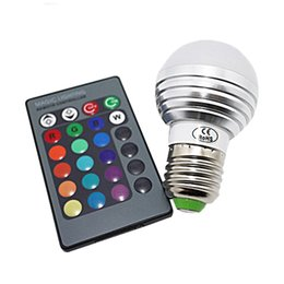 Wholesale Led Color Changing Bulb - E27 Led Bulb RGB 3W 85-265V High Quality Magic 16 Color Changing GU10 E14 LED RGB Bulb Light+IR Remote Control