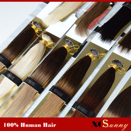 "Ombre hair loop on-line-XCSUNNY Nano Anel Extensões de Cabelo Remy 18 ""20"" 1g / s Ombre Nano Loop Extensões de Cabelo 100g Nano Bead Extensões de Cabelo + 100beads"