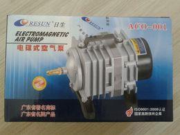 Wholesale Mini Fish Aquariums - NEW Resun ACO-001 High Quality18W 38L mini Aquarium Fish Tank Pond Electromagnetic Air Compressor Pump Free Shipping