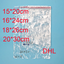 Wholesale Bag Thickness - PE Clear Plastic 2C Thickness Bags Zip Locks Ziplock Red Zipper Poly OPP Self Adhesive Seal Packing Package Packaging for Retail DHL