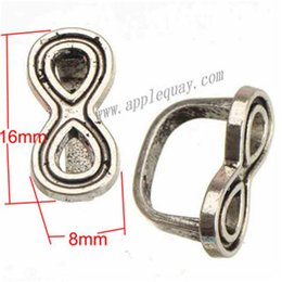 Wholesale Animal Can Watch - Charms Beads For Bracelets Multi Watch Bangle DIY Retro Silver 8 Cross Design Can Set Enamel Large Hole Metal Jewelry Findings 18*8mm 100pcs