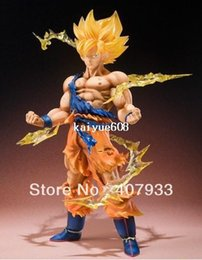 Wholesale Hot Toys Action - 1 pcs 17cm 6.7 inch Dragon Ball Z Super Saiyan Goku PVC Action Figure Toy hot sell