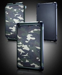 Wholesale Military Camo Case - Mini4 Army Military Camo Camouflage Armor Tough Shockproof Hybrid Hard PC Soft TPU Case Cover for iPad Mini 1 2 3 4 with Retail Package
