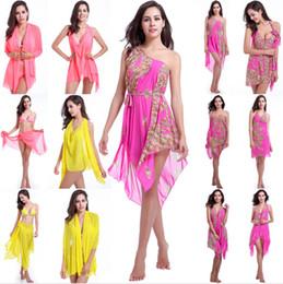 Wholesale Yellow Swimdress - 2016 New sexy changed beach dress bikini three-piece high elastic gauze siren magic tees in holiday dress more