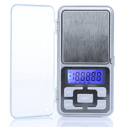 Wholesale Digital Lcd Scale - New Arrive 500g 0.1g Mini Electronic Digital Pocket Scale Jewelry Weighing Balance Counting Function Blue LCD g tl oz ct