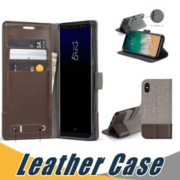 Wholesale Xperia Flip Case - Leather Wallet Case with Wallet Card Slot Flip Stand Case Cover For Sony XA Ultra XZ Premium Xperia L1 X XZ1 Nokia 6 8