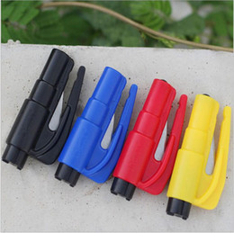 Wholesale Seat Belt Keychain - 3000pc 3 in 1 Car Window Glass Safety Emergency Hammer Seat Belt Cutter Tool Keychain #J52 Free Shipping
