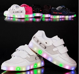 Wholesale Stylish Kids Shoes - 2016 Brand Children Shoes Baby Shoes Spring Kids Sneakers Baby Boys Girls Stylish LED Light Luminous Child Sports USB Shoes