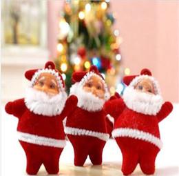 6 Pcs / Lot Decorazioni per alberi di Natale Mini Babbo Natale Ornamenti per albero Hanging Ornamenti per la casa da