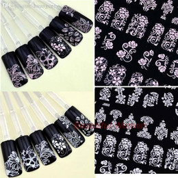 Wholesale Pic Large - Wholesale-Wholesale!!108 Pics Pretty 3D Flower Nail Art Stickers Tips Decal Flower Tip Decoration Sticks Nail Art Large Size SV007047 3F