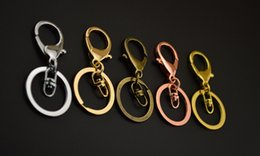 Wholesale Make Key Chain Rings - KC rose gold Metal Key Ring Chains Make Key Chain Rings with Swivel Lobster Clasp Fit Car Keys