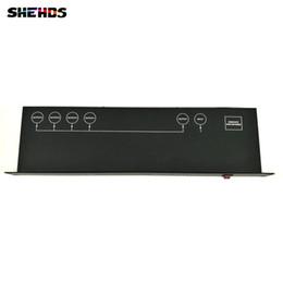 2019 controlador amplificador Controlador de luz de escenario DMX512 Splitter Light Signal Amplifier Splitter 4 way DMX Distribuidor para equipos de escenario controlador amplificador baratos