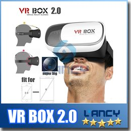 Wholesale Smartphone Retail Box - VR Box 2.0 + Gamepad Virtual Reality 3D Glasses Helmet VR BOX Headset For Smartphone 3.5 inch ~ 6 inch with Retail Package