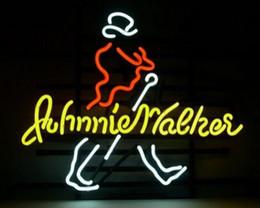2019 panneau marcheur Johnnie Walker Enseigne Au Néon Personnalisé À La Main Véritable Verre Tuble Décoration De La Maison Bar À Bière Bureau Pub Fenêtre Art Néon Signes 17