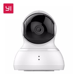 Wholesale Wired Ip Camera System - YI Dome Camera 720p Pan Tilt Zoom Wireless IP Security Surveillance System HD Night Vision (US   EU Edition) White Baby Monitor