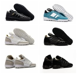 Wholesale Cheap Spiked Shoes For Men - New Mundial Team Modern Craft Astro TF Turf Soccer Shoes Football Boots Cheap Soccer Boots Mens Soccer Cleats For Men 2017 Black White