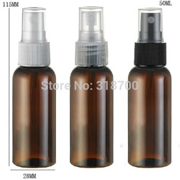 Wholesale Plastic Fragrance Spray Bottles Wholesale - Free shipping - 50 lot 50ml Amber PET Perfume Bottle, 50cc Mist Spray Bottle, 50ml Fragrance Perfume Bottle