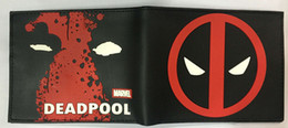 Wholesale Anime Heroes - Comics Marvel Deadpool Wallets Anime Hero Dead Pool LOGO Purse Card Holder Bags Creative Gift for Men Fashion PVC Short Wallet