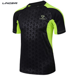 Wholesale Sail T Shirt - Wholesale-Lucky Sailing Brand Men Quick Dry Sport T Shirts Outdoor T-shirt for Crossfit Running Fitness 2016