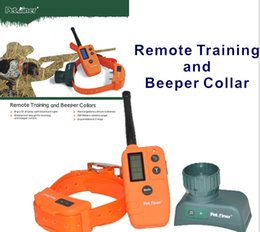 Wholesale Beeper Collars - Wholesale 500M Pet Trainer Remote Training Electronic Beeper Bark Collar Safely for 1 Dog 30pcs DHL