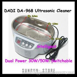 Wholesale Da 968 - DADI DA-968 Dual Power 30W 50W Ultrasonic Cleaner With Display 220V or 110V Stainless Steel Intelligent Ultrasonic Cleaning A3
