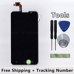 Wholesale Resistive Lcd Touch - Wholesale- LCD Display + Touch Screen Digitizer Glass Panel For Highscreen Alpha R