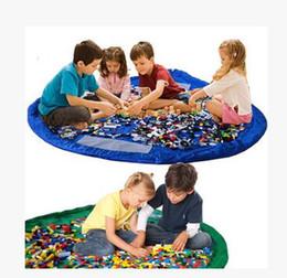 Wholesale Large Plastic Folding Storage Boxes - Portable Kids Children Infant Baby Play Mat 150cm Large Storage Bags Toys Organizer Blanket Rug Boxes Easy