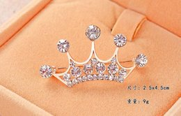 Wholesale Imperial For Sale - Hot Sale Multi Colored Imperial Crown Crystal Rhinestone Brooch Best Choice For Valentine's day, Gathering Party