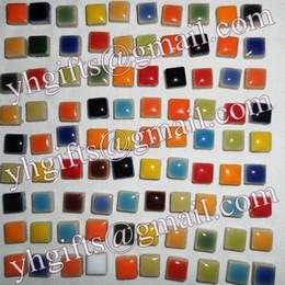 Wholesale Porcelain Tile Wholesalers - 600PCS 600Gram Lot,Ceramic mosaic tile,Scramble tiles,Porcelain mosaic,Craft material,0.95x0.95x0.5cm,Freeshipping,Wholesale