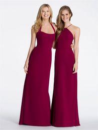 Wholesale Different Halter Bridesmaid Dress - 2016 Jim Hjelm Grape Purple Bridesmaids Dresses Different Mix Style Sexy Back Long Chiffon Cheap Elegant Plus Size Beach Formal Prom Dresses
