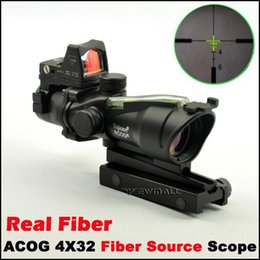 Wholesale Trijicon Green Dot - Tactical Trijicon Style 4X32 ACOG Style Rifle Scope With Mini green Dot for hunting