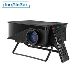 Wholesale Cheap Digital Video - Wholesale- TouYinger T1 LED Mini Projector Support HD 1080P Video Home Theater LCD Beamer Cheap Digital Portable am01s Projector pk uc40