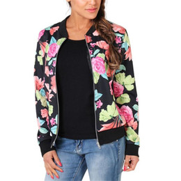Wholesale One Button Slim Female Jacket - Wholesale- Spring Women Jacket Fashion Floral Jacket Ladies Floral Flowers Printed Casual One Button Slim Suit Coat Female Outwear Autumn