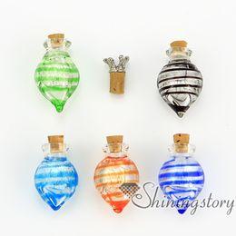 Wholesale Miniature Glass Bottles Wholesale - cone foil murano glass handmade murano glass miniature perfume bottles pet memorial jewelry ashes pendant pet memorial jewelry ashes pendant