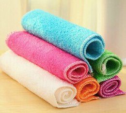 Wholesale Eco Fiber - Cleaning Cloths superfine bamboo fiber is not contaminated with oil washing towels absorbent cloth towel canot afford