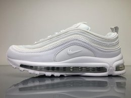 Wholesale Max Edition - New Max97 Mens Low Running Shoes Cushion Men OG White Silver Anniversary Edition Sneakers Man Maxes Athletic Sports Trainers Shoes Boosts
