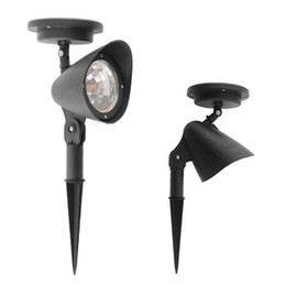 Wholesale Solar Powered Outdoor Spotlight - 3 Outdoor Garden Yard Solar Power Saving Automatic sensor New Longlife Spotlight Free Shipping, dandys