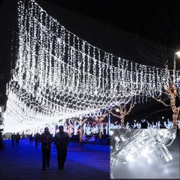 Wholesale Twinkle Lights Wedding Decoration - White 50M 300 LED Decorative Light Wedding Fairy Christmas Party Twinkle String Lights Curtain 220v EU Outdoor Decoration P352