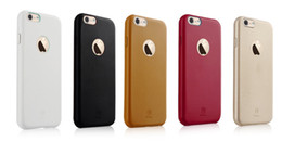 Wholesale Official Logo - Hot Sale Ultra-thin Soft PU Leather Official Style LOGO Hollow Luxury Slim Moblie Phone Case Covers For Iphone 5 5s 6 6s 6 Plus