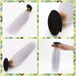 Wholesale Ash Brown Extensions - 2015 Hollywood Star Style Chinese Remy Hair Weft T color #8 Light Ash Brown Purple Straight No-Host Party Single Hair Extensions