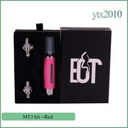 Wholesale Evod Heating Coil - EVOD MT3 Atomizer Electronic Cigarette Fit for EVOD Battery EGo t Battery 2.4ML Replaceable Coil E cigarette Buttom Heated 10 colors
