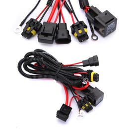 Wholesale H7 Wiring Harness - Lowest Price Car Xenon For HID Conversion Light Relay Wiring Harness Kit H1 H3 H7 H8 H9 H11 9006 9005 DC12V 40A