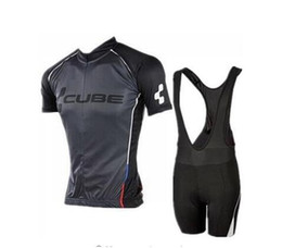 Wholesale Cube Cycle Shorts - 2017 Brand Pro Team Cube Cycling Jersey Ropa Ciclismo Quick-Dry Sports Jersey Cycling Clothing cycle bicycle Wear pro Jersey