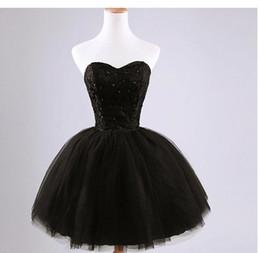 Ball Gown 2016 New Black Fashion breve Sweetheart in rilievo pizzo abito da damigella d'onore eleganti abiti da festa spedizione veloce da