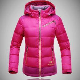 Wholesale Duck Mountain - Wholesale-2016 New KEKEMAR Brand Women's White 90% Duck Down Hiking skiing Jacket for Women Waterproof Windproof For Mountain snowboard