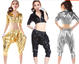 Wholesale Sexy Women Stage - Brand New Party supplies Jazz dance clothes ds stage costumes HIP-HOP harem style fashion suit sexy nightclub clothing
