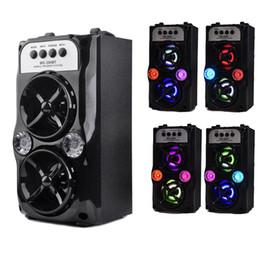 2019 alto-falante sem fio portátil tf Alto-falante MS-204BT LED alto-falantes portáteis sem fio Bluetooth com USB TF AUX FM rádio exterior super baixo (preto) MIS167 desconto alto-falante sem fio portátil tf